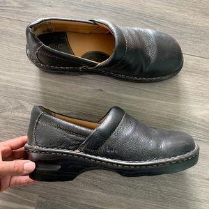 B.O.C Black Leather Clogs